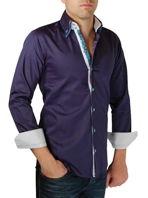 chemise-homme-bleu-marine-double-ha